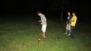 We put our lights to good us in this night bocce game!