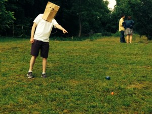 Bocce mascot Sanguine French taking it to the next level!
