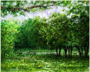 Check out an artist rendition of a perfect summer day, and then our pic . . . you're bound to notice the similarity.