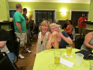 Sherri won the bocce title with 69