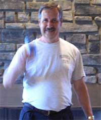 Sandy Colabufo on the first day of Turbo Bocce in 2005.