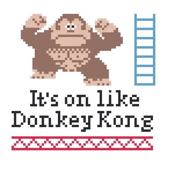 Its-On-Like-Donkey-Kong-Cross-Stitch-Pattern